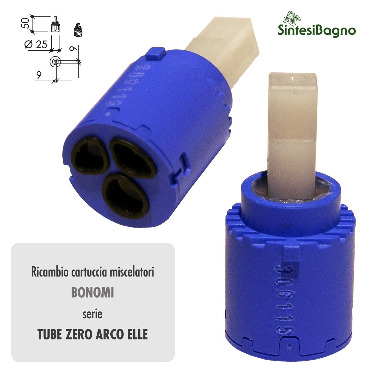 Cartuccia ceramica BONOMI Ø mm 25 per rubinetterie TUBE ZERO ARCO ELLE