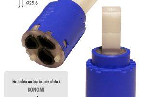 Cartuccia ceramica BONOMI Ø mm 25 per rubinetterie serie ZERO