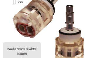 Cartuccia ceramica BONOMI Joystick Ø mm 25 per rubinetterie serie JUST