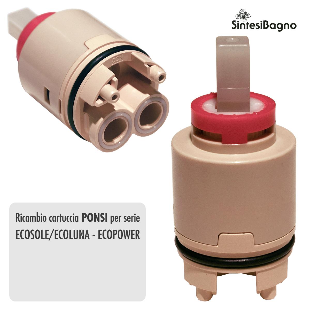 Cartuccia PONSI Ø 35 per miscelatore ECOSOLE/ECOLUNA/ECOPOWER - BTRICCCA05