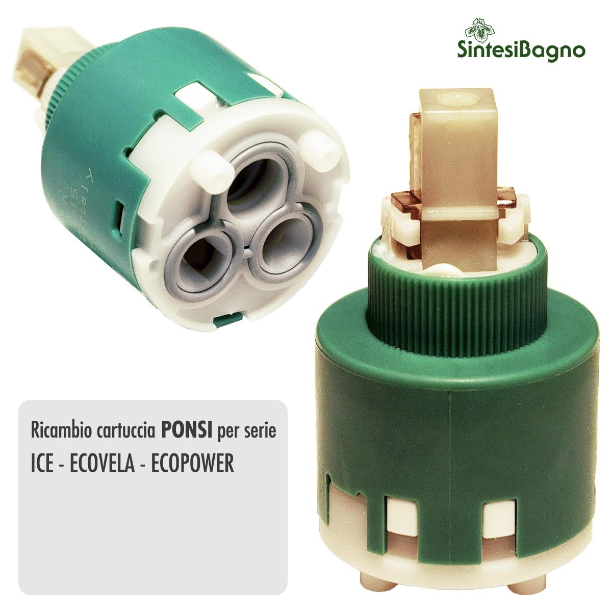 Cartuccia PONSI Ø 35 per miscelatore ICE/ECOVELA/ECOPOWER - BTRICCCA07