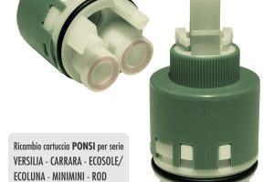 Cartuccia PONSI Ø 35 per miscelatore VERSILIA/CARRARA/MINIMINI/ECOPOWER/ROD/ONDA/LYDO/... - BTRICCCA04