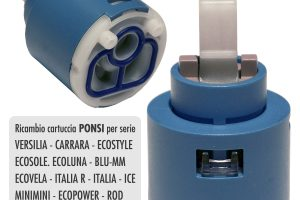 Cartuccia PONSI Ø 35 per miscelatore VERSILIA/CARRARA/MINIMINI/ITALIA R/ICE/ECOVELA/... - BTRICCCA03