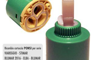 Cartuccia PONSI Ø 40 per miscelatore VIAREGGIO/STIMAR/BLUMAR 2016 - BTRICCCA08