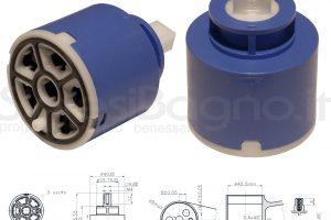 KEROX K 3 | Cartuccia DEVIATRICE/DEVIATORE a 3 vie KEROX K-3 | Ø 40 mm