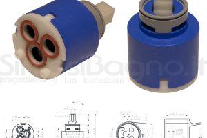 KEROX K 35 A | Cartuccia KEROX K-35A di ricambio per miscelatore monocomando Ø 35 mm