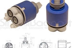 KEROX K 35 B | Cartuccia KEROX K-35B di ricambio per miscelatore monocomando Ø 35 mm