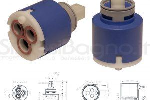 KEROX K 35 C | Cartuccia KEROX K-35C di ricambio per miscelatore monocomando Ø 35 mm