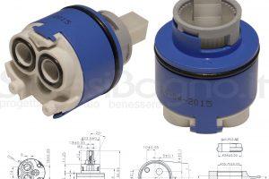 KEROX K 35 OP | Cartuccia KEROX K-35OP di ricambio per miscelatore monocomando Ø 35 mm