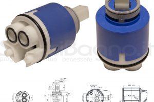 KEROX K 40 B | Cartuccia KEROX K-40B di ricambio per miscelatore monocomando Ø 40 mm