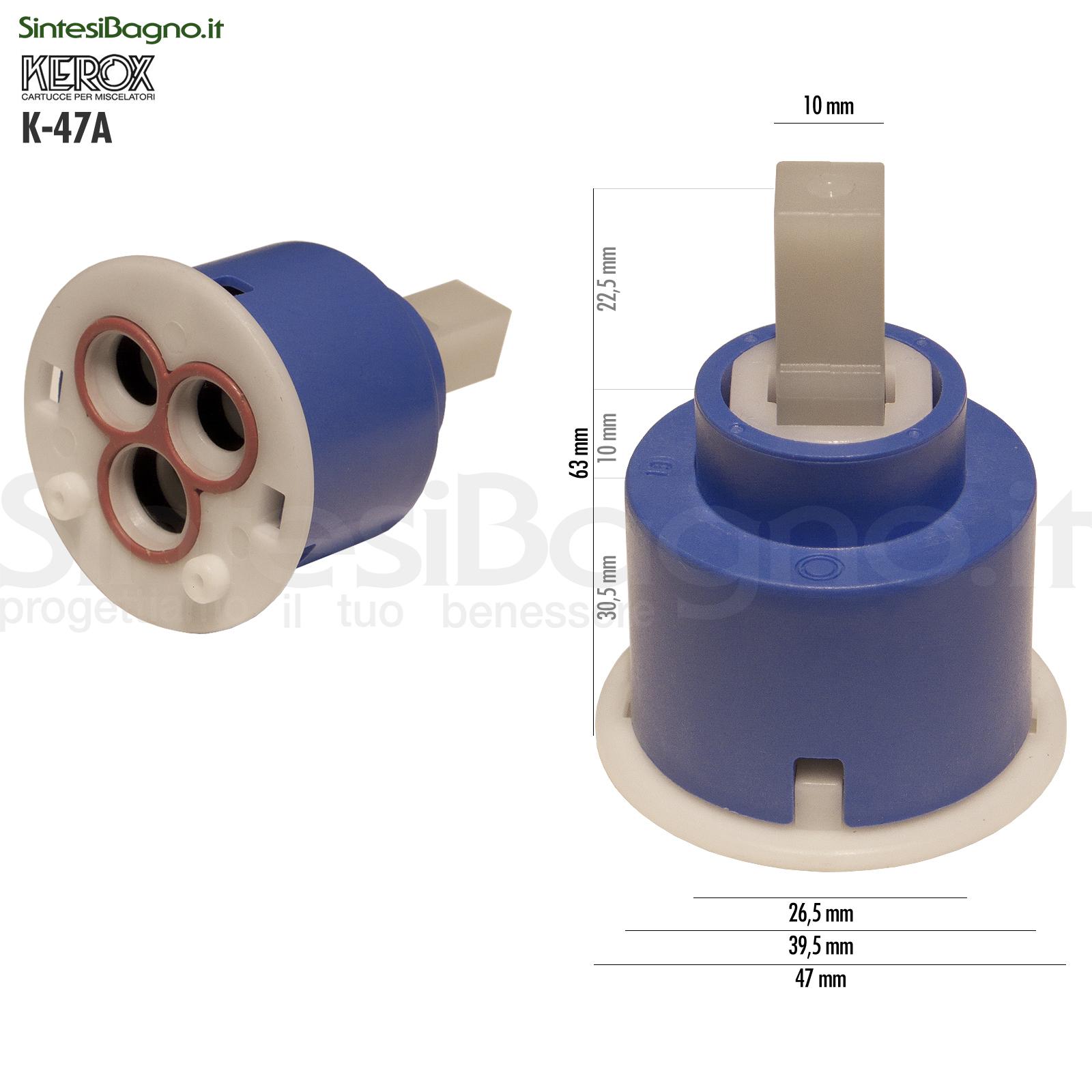 KEROX K 47 A | Cartuccia KEROX K-47A di ricambio per miscelatore monocomando Ø 47 mm