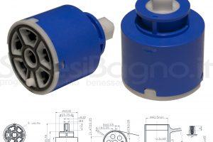 KEROX K 5 | Cartuccia DEVIATRICE/DEVIATORE a 5 vie KEROX K-5 | Ø 40 mm