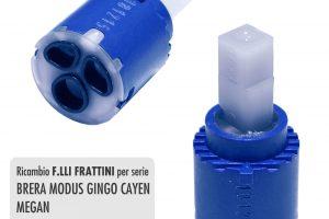 Cartuccia per miscelatore monocomando Ø 25 rubinetterie F.LLI FRATTINI - R08006