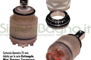 Ricambio cartuccia Ø 25 GESSI serie RETTANGOLO - SP01233