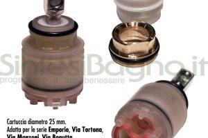 Ricambio cartuccia Ø 25 GESSI serie EMPORIO - SP01410